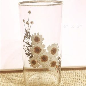 Vintage Large Glass Cylinder Vase